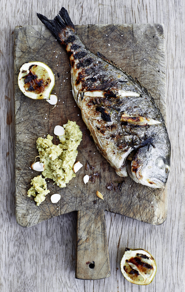 ... the sea bass in whole roasted sea bass with fillet of sea bream with